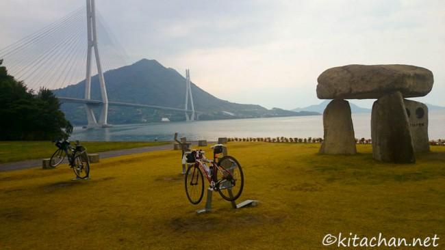 サイクリストの聖地」記念碑